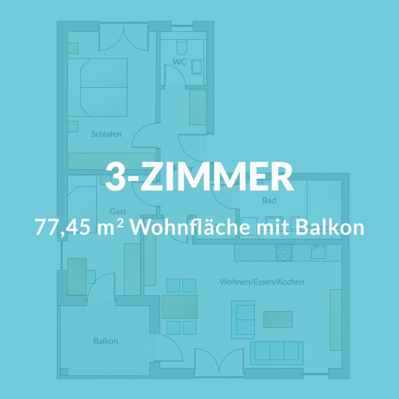 3-Zimmer-Wohnung Neubau Wohnung Nürnberg | Röthenbach | BERGER GRUPPE